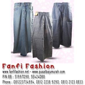 bumm rok panjang jeans baju mport Fanfi Fashion